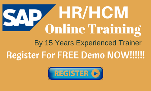 SAP HR/HCM  Online Training by 15 Years Experienced Trainer
