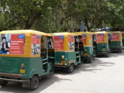 Auto Rickshaw Advertising in Delhi
