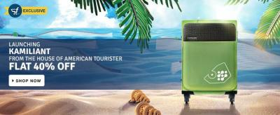 Flipkart Exclusive Launching American Tourister Flat 40% off - Goosedeals