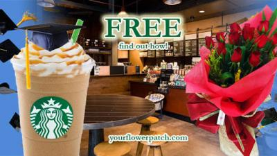 Free 200.00 Php worth of Starbucks gift certificate at yourflowerpatch