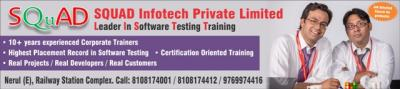 SQUAD Infotech - Best Software Testing Training Course in Mumbai with Placement
