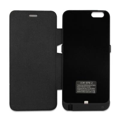 10000mAh for iPhone 6 Plus 5.5 inch External Battery Power Pack Flip Cover Case
