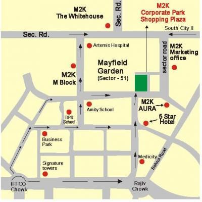 651 Sq. Ft M2K Corporate Park Shopping Plaza Sector 51 Gurgaon