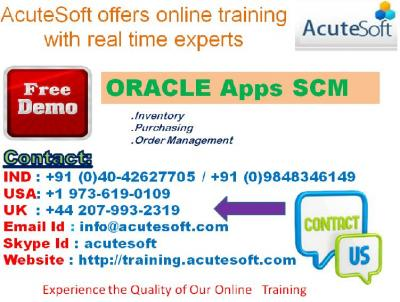 Oracle Apps SCM | Online Oracle Apps SCM training