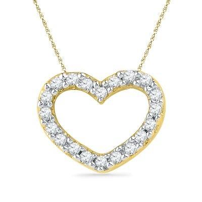 Jpearls 18kt Rose Gold Honey Heart Diamond Pendant