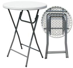 "Folding chairs tables larry hoffman - 31"" Round Bar Height Cocktail Tables"