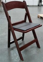 Resin Mahogany Folding Chair