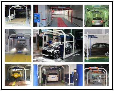 Automatic touch free car washing machine and car washer