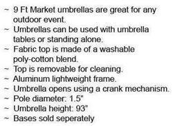 Folding Chairs Tables Larry Hoffman - 9ft Market Umbrella