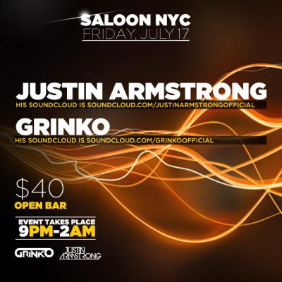 Live Performance at Saloon NYC by Justin Armstrong