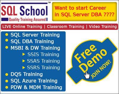 PROJECT ORIENTED TRAINING ON SQL Server 2012 DBA – ONLINE @ SQL School