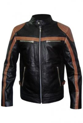 New Men Motorbike Leather Jacket