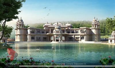 Khagaria architectural 3d for Bungalow 104#