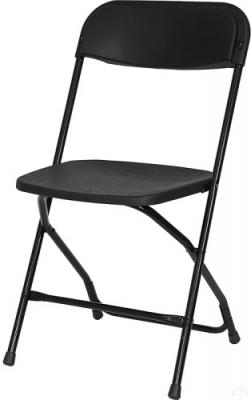 Folding-Chairs-Tables-Discount - Black Poly Folding Chair
