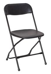 Free Shipping Black Polly Folding Chairs