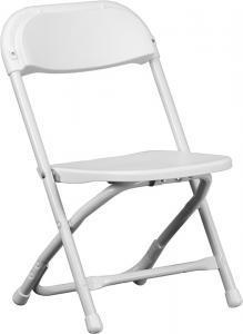 Folding-Chairs-Tables-Discount - White Kids Folding Chair