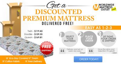 Discounted Premium mattresses delivered Free!