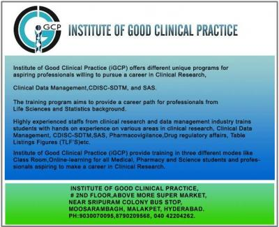 ONLINE/ CLASS ROOM  WORKSHOP  ON (`25/07/2015) CLINICAL   RESEARCH,CDM,SDTM,SAS COURSES @IGCP