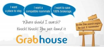 Find flats, PG, house for rent without broker by logging onto Grabhouse