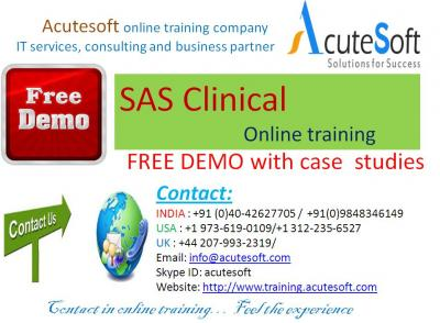 SAS Clinical online training