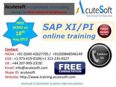 SAP XI/PI Online Training by AcuteSoft with 10+ years SMEs.