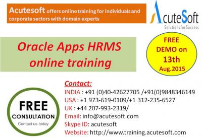 Oracle Apps HRMS Online Training by AcuteSoft with 10+ years SMEs