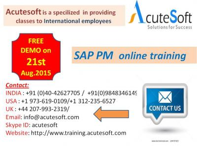 SAP PM Training by AcuteSoft with 10+ years SMEs.