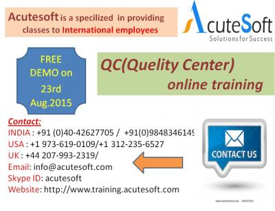 QC Online Training by AcuteSoft with 10+ years SMEs