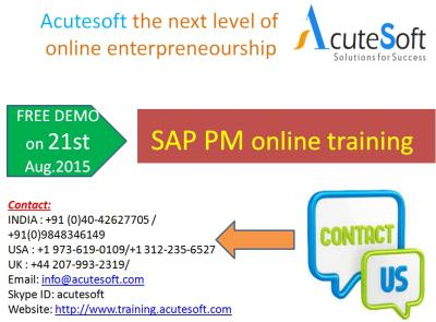 SAP PM  Online Training with Project Case Studies-AcuteSoft