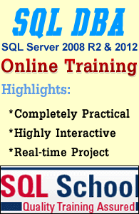 EXCELLENT PROJECT ORIENTED REALTIME PRACTICAL TRAINING ON SQL Server 2012 DBA