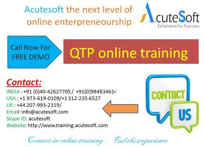QTP  Online Training with Project Case Studies-AcuteSoft