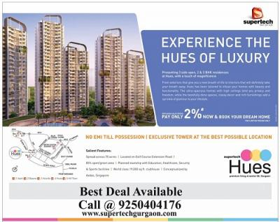 2 BHK Call @9250404176  Supertech Hues Sector 68 Gurgaon