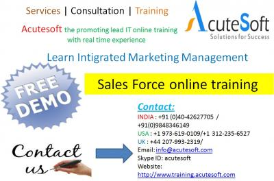 Sales force Online Training by AcuteSoft with 10+ years SMEs.