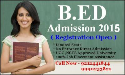 B.Ed Direct Admission Session 2015-17