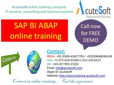 SAP BI ABAP Online Training by AcuteSoft with 10+ years SMEs.