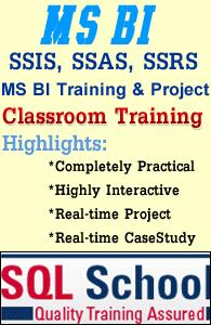 Best Classroom Training on SQL BI  @ SQL School