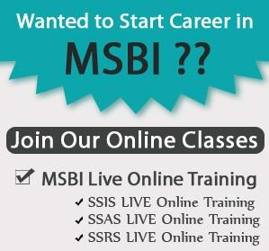 Realtime Online Training on BI @ SQL School