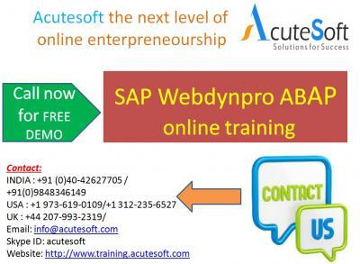 SAP Webdynpro ABAP  Online Training with Project Case Studies-AcuteSoft