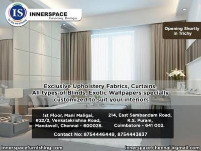 Modern furnishing boutique for curtains, Wallpapers, Blinds……