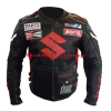 Suzuki ICON Black Leather Motorcyclist Jacket
