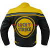 Lucky Strike 0113 Yellow Leather Biker Jacket