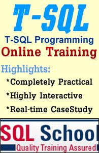 T-SQL ONLINE LIVE TRAINING AT SQL SCHOOL