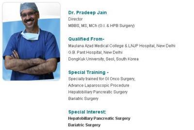 Dr Pradeep Jain - Best GI Surgeon In India