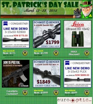 St. Patricks Sale 2015 on Hunting Goods - Hurry