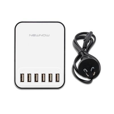 40W 6-Port USB Wall Charger Travel Adapter AU Plug