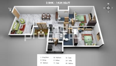 2 Bedroom Luxury Apartments in perungudi Chennai