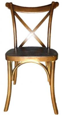 X Back Banquet Fruitwood Chairs - Larry Hoffman