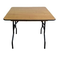 """Square 60"""" Plywood Foldig Table"""