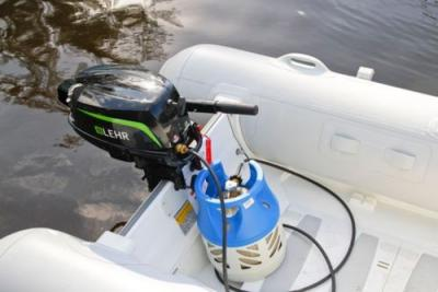Lehr 5 HP Propane Powered 4 Stroke Outboard Engine Long Shaft NEW