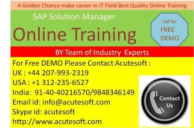 SAP Solution Manager | Online SAP Solution Manager training